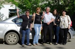 Андрей Федорович с учениками
